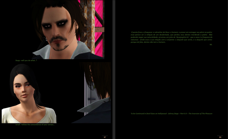DEVIL GOES ON HOLLYWOOD-JOHNNY DEPP-THE SEX-PARTII-I-THE PASSAGE OF THE DESIRES- THE CONCORDANCE OF THE SENSES-PG44